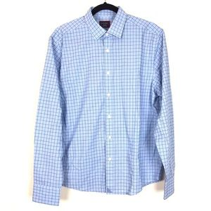 UNTUCKit Grid-check Button-up in Spumante